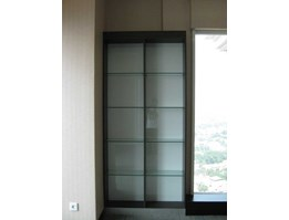 Open Rack Cabinet with glass shelves