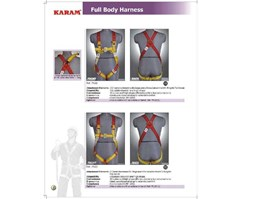 Jual Full Body harness and Lanyard Karam