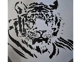 Jual Tiger painting in aboriginal style