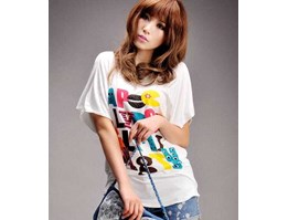Model-2036 Visual colorful colorful cotton T shirt printing