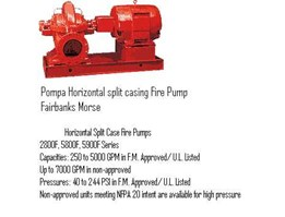 Jual Horizontal Pump Split Casing Fire Pump FairBanksMorse