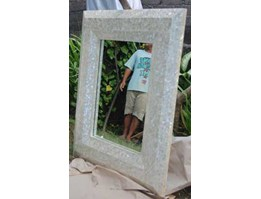mother of pearl frame mirror