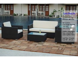 Innara Living Set Rattan Furniture, Sofa Rotan Sintetis