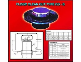 Jual Floor Clean Out ( Type CO-B)