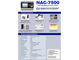 Jual NAC 7500 Fingerprint Time Attendance & Access With Colour LCD