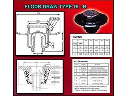 Jual Floor Drain Cast Iron Type T5-B