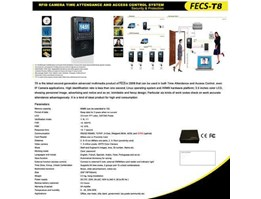 RFID Camera Time Attendance and Acces Control System Model FECS-T8 New