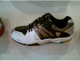 Sepatu Badminton Fly Power Murrano New Black Silver ( ORIGINAL )