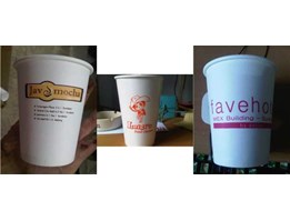 paper cup + logo