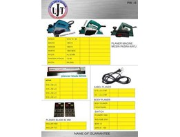 Jual Power Tools 6 Mesin planner, Mata Planner NOVA, kabel planner, body planner, switch