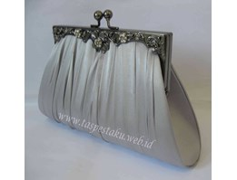Tas Pesta/ Clutch Bag/ Dompet Pesta Kode K8 Silver
