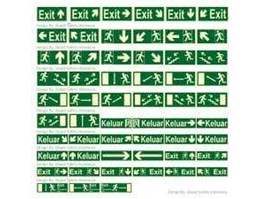 Jual Rambu Emergency Exit Signs
