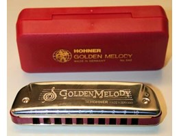 HOHNER GOLDEN MELODY CUSTOMIZED HARMONICA BY JOHNNY BISHOP ( USA)