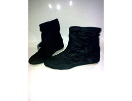 Jual angkle boots black suede