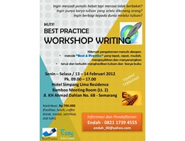 Workshop Writing / Pelatihan Menulis - Best Practice