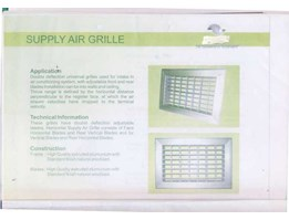 SUPPLY AIR GRILLE ALMUNIUM