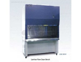 Jual LAMINAIR FLOW CLEAN BENCH SILVER TEMPERED SAFETY CLASS WALL AT BOTH SIDES