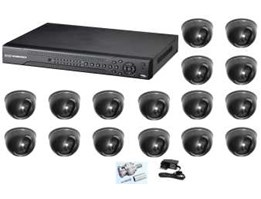 CCTV Low Cost Package 9 - Dome Indoor 16 Channel