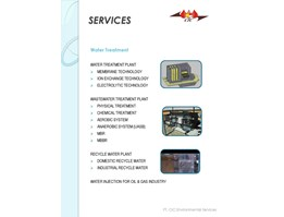 Jual Water & Waste Water Treatment Plant Services