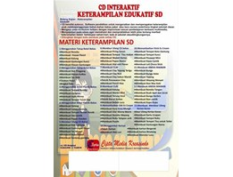 Jual SOFTWARE CD INTERAKTIF MULTIMEDIA KETERAMPILAN EDUKATIF SD