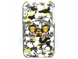 Jual Rhinestone Bling Hard Case for HiPhone 3G / 3GS-Monkey Family