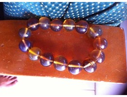 Healing Bracelet and Necklace Blue Amber
