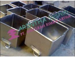Jual Meat Car, Euro Container Stainless Steel