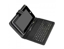 Jual Leather Case Universal Tablet 7 plus Keyboard