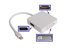 Kabel Mini Display Port 3 in 1 To DVI, DISPLAY, HDMI