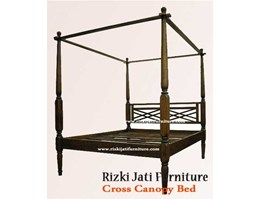Jual Cross Canopy Bed painted Furniture   French Painted Furniture   minimalist Painted Furniture   Sell Furniture