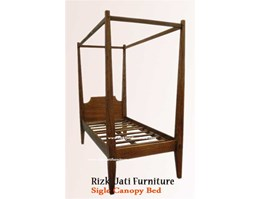 Jual Single Canopy Bed painted Furniture | French Painted Furniture | minimalist Painted Furniture | Sell Furniture Indonesia