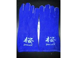 Jual WELDING GLOVES 14 INCH BLUE KW-1