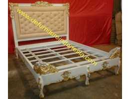 Queen Size Bedframe with endboard, french furniture, classic furniture   defurnitureindonesia DFRIB-29
