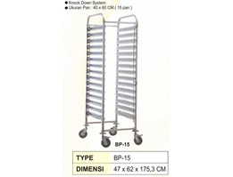 Pan Trolley Stainless / Trolley Nampan Stainless / Pan Stainless / Trolley Restoran / Food Trolley