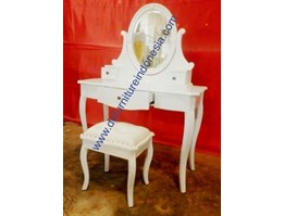 Jual Dressing table with attached mirror, french furniture, painted furniture | defurnitureindonesia DFRIDT-19