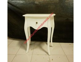 Bedside Table Single Drawer, Painted furniture, Indonesia Furniture defurnitureindonesia DFRIBT-41