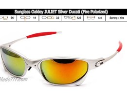 Jual Sunglass Oakley JULIET Silver Ducati ( Fire Polarized)