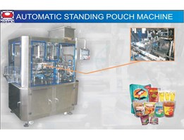 Automatic Standing Pouch Machine / Mesin Standing Pouch / Mesin pengisi plastik standing pouch / Mesin Filling Standing Pouch / Mesin Pengemas Plastik untuk Standing Pouch / Mesin Standing Pouch Rotary / Mesin Stand Up Pouch / Mesin Pengemas Plastik stand