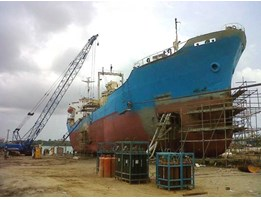 Jual CEMENT CARRIER 6500 DWT ON YARD DOCKING FOR REPAIR, ME & AU. SERVICES, SANDBLASTING & PAINTING