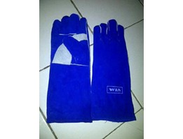 WELDING GLOVES 16 INCH BIRU LOKAL