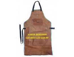 Jual WELDING APRON BROWN / APRON DADA KULIT BROWN