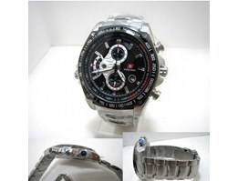 Swiss Army 7503 Stainless Steel Black Dial