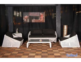 Cutland Living Set - Synthetic Rattan Furniture