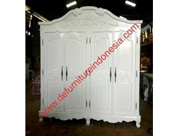 Jual wardrobe with 4 door, painted furniture, french furniture | defurnitureindonesia DFRIBnW-51