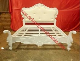Jual Geese Bedframe with Cushion Headboard, French Furniture