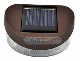 Lampu Taman Solar Cell : Outdoor Powered 2 LED Stairway Mount Cool Fence Garden Wall Solar Light Lamp