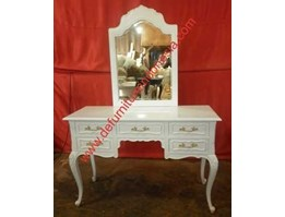 Dressing table with mounted mirror, French Furniture, Painted Furniture   defurnitureindonesia DFRIDT-21