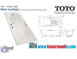 Jual Bathtub Toto FB 1700-80, design elegan