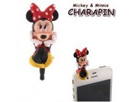 Jual Disney Minnie Mouse Charapin Earphone Jack Accessory
