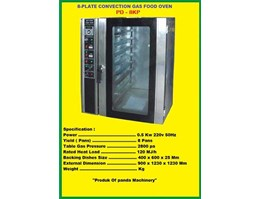 8 Plate Convection Gas Food Oven